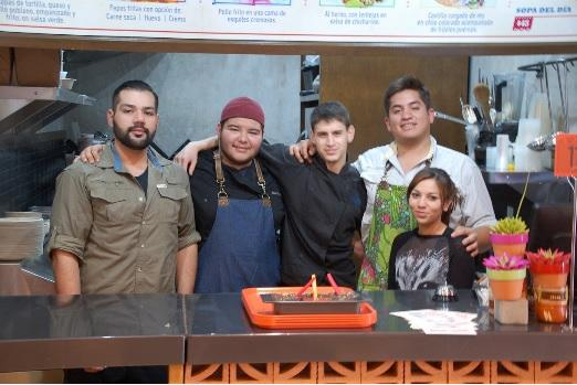 Chef Jose Figueroa (far right) and his staff at Don Zefe.