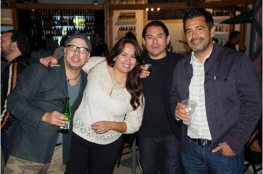 From left: Javier Guerra, Ana Laura Holguin, Fernando Gaxiola and chef Javier Plascencia.