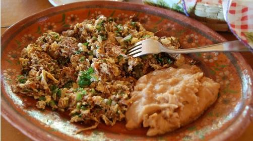 Doña Esthela's award-winning machaca con huevos.