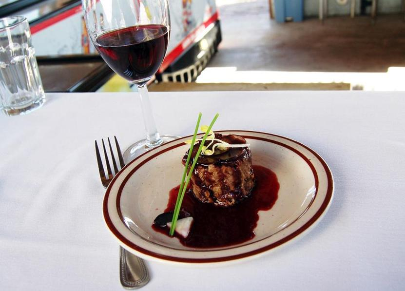 """In 2014, La Terrasse San Roman's hibiscus pork paired with Alximia's Libis won """"Best of Sabor""""."""