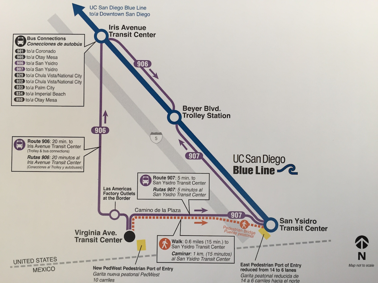Everything You Need to Know About PedWest, San Ysidro's New ... on trolley map san francisco, miami trolley system map, san diego zoo map, trolley route in dallas, charlotte light rail map, trolley bar map, pittsburgh trolley map, denver light rail map, trolley trail map,