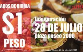 Por inauguración esta birrieria de Tijuana tendrá los tacos a 1 peso