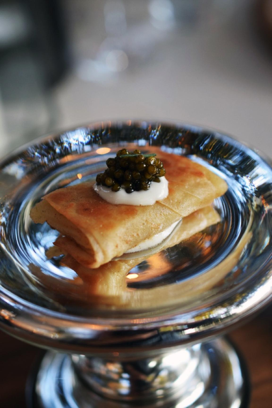 Crispy potato burrito with caviar. Photo: AGringoInMexico
