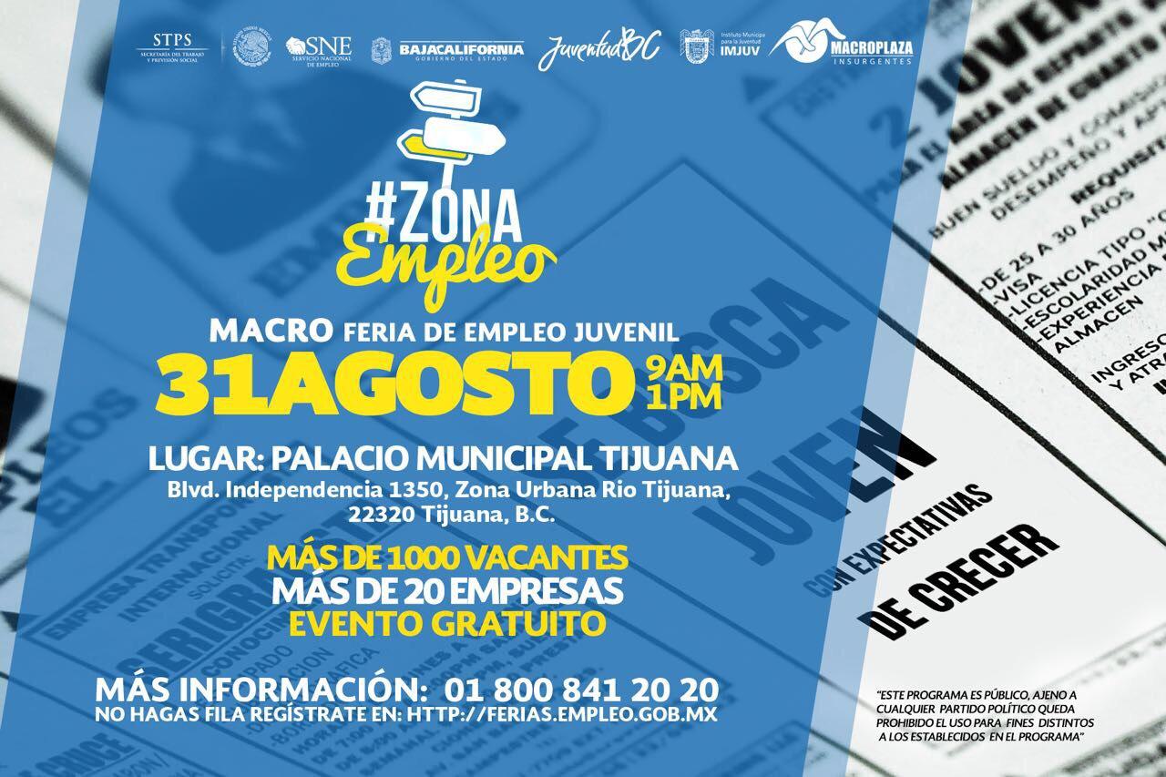 Invitan A Macro Feria Juvenil Zona Empleo 2017 Sandiegored Com