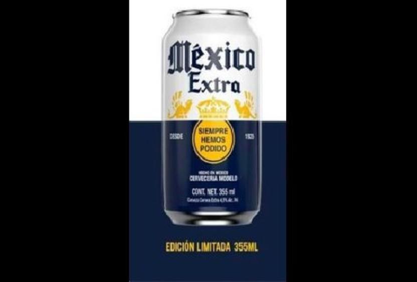 Así se verán las latas de México Extra. Facebook Cerveza Corona