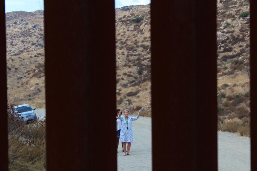 De ambos lados la instalación es visitada. Foto: Ángel García