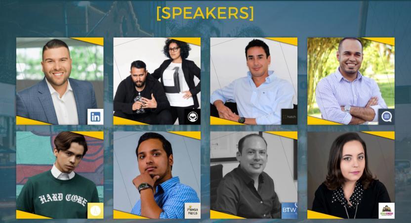 Algunos de los 'speakers'