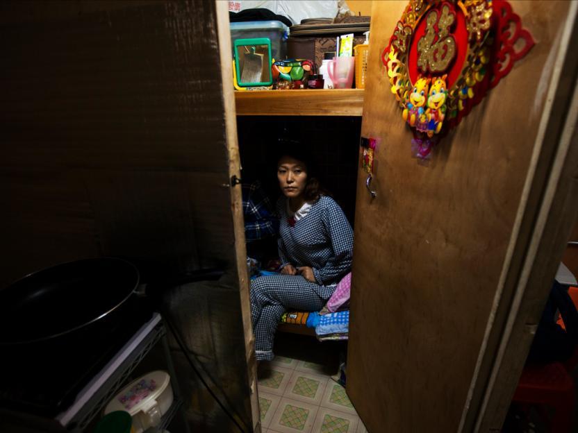 La gente en Hong Kong suele vivir en un espacio de 3 metros cuadrados.Foto: Siu Chiu.