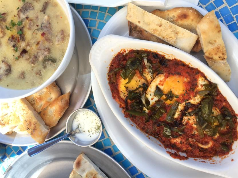 """Menemen"" eggs and beef tongue stew. Photo: SanDiegoRed"