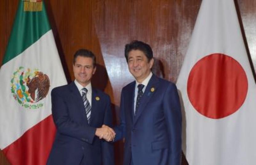 Enrique Peña Nieto, presidente de México y Shinzo Abe, primer ministro de Japó