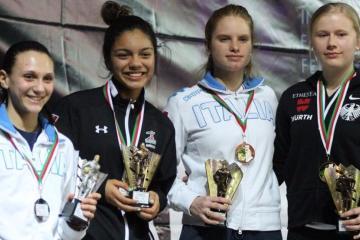 Tijuanense Natalia Botello Wins World Fencing Jr. Cup in Argelia