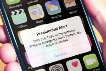 Celulares en todo EEUU recibirán alerta de emergencia esta tarde