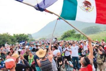 Caravana migrante ya viene a Tijuana
