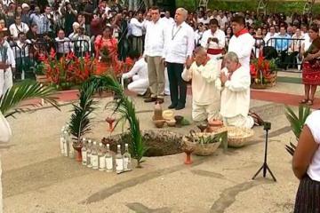 AMLO pide permiso a la tierra para construir Tren Maya
