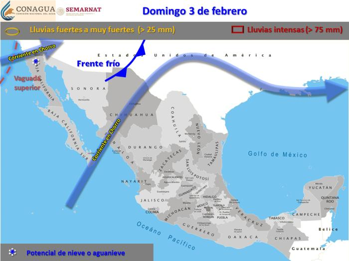 Jueves y Viernes de nevadas en Baja California