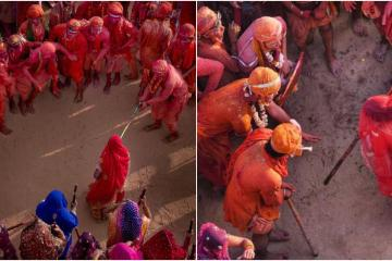 Lathmar Holi is a local celebration of the Hindu festival