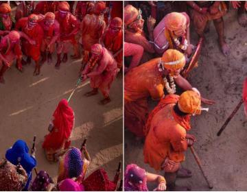 Lathmar Holi is a local celebration of the Hindu festival