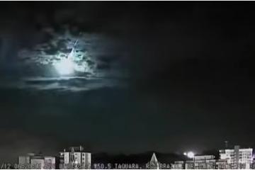 Graban caída de un meteoro en Brasil (Video)