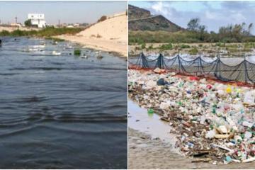 Alertan sobre la grave contaminación en el desagüe del río Tijuana