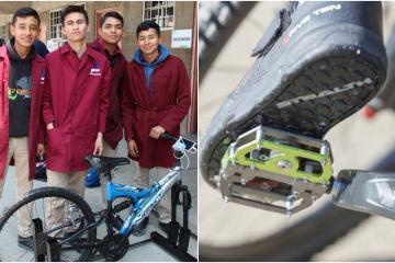 Alumnos de CECyTE producen energía eléctrica con bicicletas
