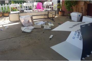 Irrumpen casilla y rompen material electoral en Palaco, Mexicali