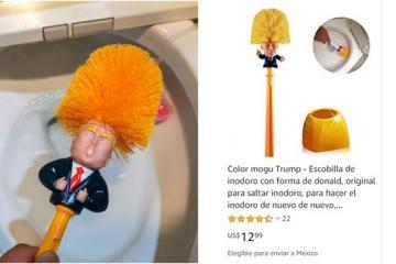 """Chinos lavan sus baños con """"cepillo de Trump"""""""