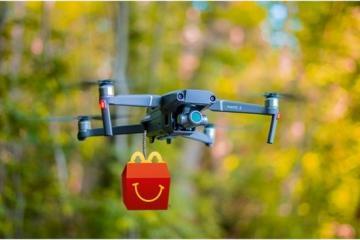 McDonalds enviará comida con drones de Uber Eats en San Diego