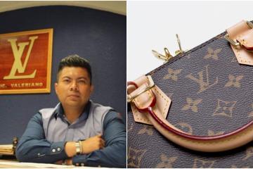 Licenciado se vuelve viral por usar logo similar al de Louis Vuitton