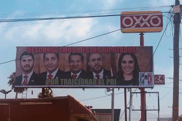 El PRI llama traidores a sus diputados que apoyaron a Bonilla