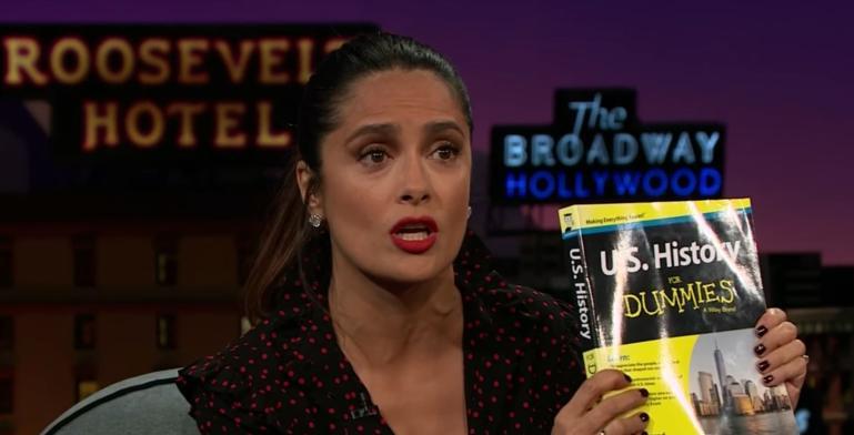 Salma recomienda a Trump leer Historia de Estados Unidos for Dummies