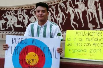 Deportista yucateco vende chocolates para poder asistir al Mundial...