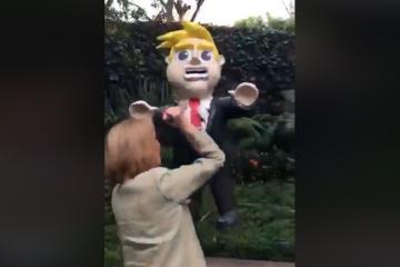 Guadalupe Loaeza apuñala a Donald Trump