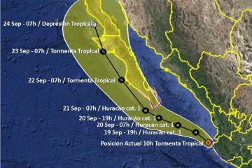 Lorena podría atraer lluvias la última semana en septiembre