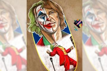 Tijuanense pinta retrato del Joker en Zona Centro