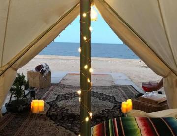 El tesoro escondido de San Felipe donde acampas con glamur en la playa