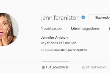 La primera foto en Instagram de Jennifer Aniston está...