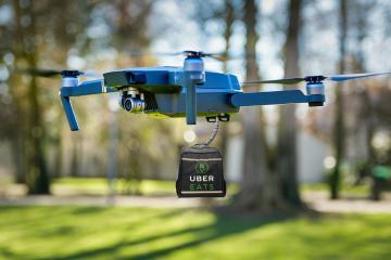 San Diego comienza entregas de Uber Eats en drones en el 2020