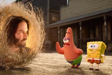 Keanu Reeves aparece en trailer de la nueva película de Bob Esponja