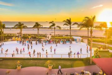 Incredible ice rink before the sea