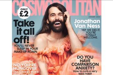 Primera vez en 35 años que hombre protagoniza portada de Cosmopolitan