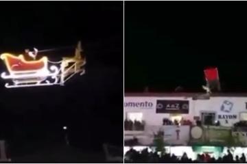 Santa Claus choca contra edificio mientras volaba sobre Tlaxcala