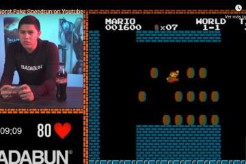 Badabun es acusado por falsificar un speedrun de Super Mario Bros