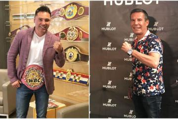 Pelea entre Julio César Chávez y Óscar de la Hoya podría ser en...