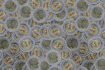 Estas monedas de 5 pesos valen mil pesos en Internet