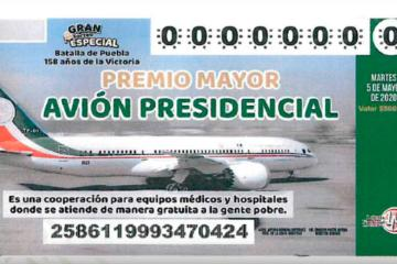 Avión presidencial: Ya está listo el boleto para la rifa