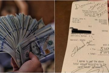 Mesera recibe propina de 5 mil dólares por challenge viral