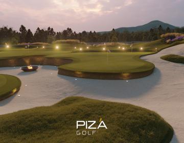 Pizá Creates Unique Golf Practice Area for Private Client...