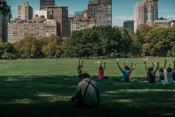 Covid-19: Central Park se convierte en un hospital improvisado