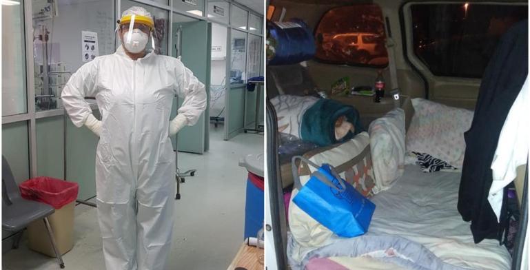 Covid-19: Enfermera del Hospital General de Tijuana duerme en el...