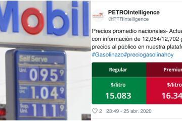 Mientras en EEUU el galón de gasolina está en 77 centavos, en...